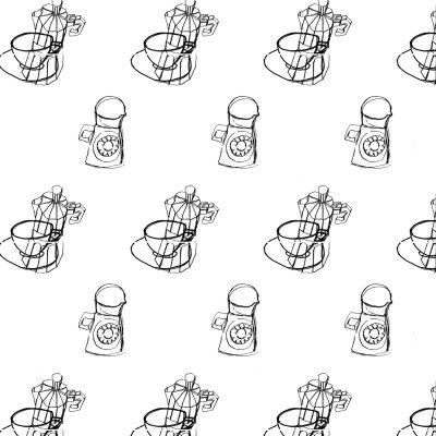A4 coffee pots - Margie Harris Art