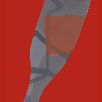 Red and Grey Bottle - Margie Harris Art