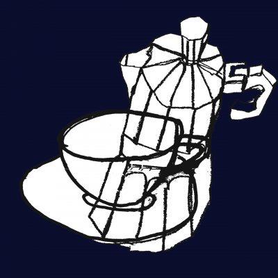 coffee pots cleaned - Margie Harris Art